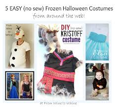 Frozen Halloween Costumes Adults 5 Easy Sew Frozen Halloween Costumes Wine Whine