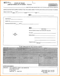 Examples Of Power Of Attorney Forms by 3 Texas General Power Of Attorney Form Attorney Letterheads