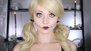 halloween doll makeup tutorial no body paint needed youtube