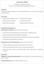 Phlebotomist Resume Sample No Experience by Phlebotomist Resume Phlebotomy Technicians Resume Sampe Http