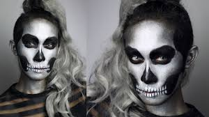 glitter skull makeup tutorial 31 days of halloween youtube