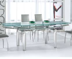 Glass Rectangle Dining Table Furniture Chrome Dining Table Bases For Rectangle Blue Glass Tops