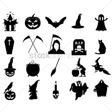 halloween vector art halloween silhouette icons vector image 1483369 stockunlimited