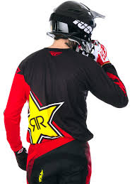 Fly Racing Red Black Rockstar 2017 Kinetic Mx Jersey Fly Racing