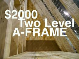 an a frame cabin or tiny house for 2000