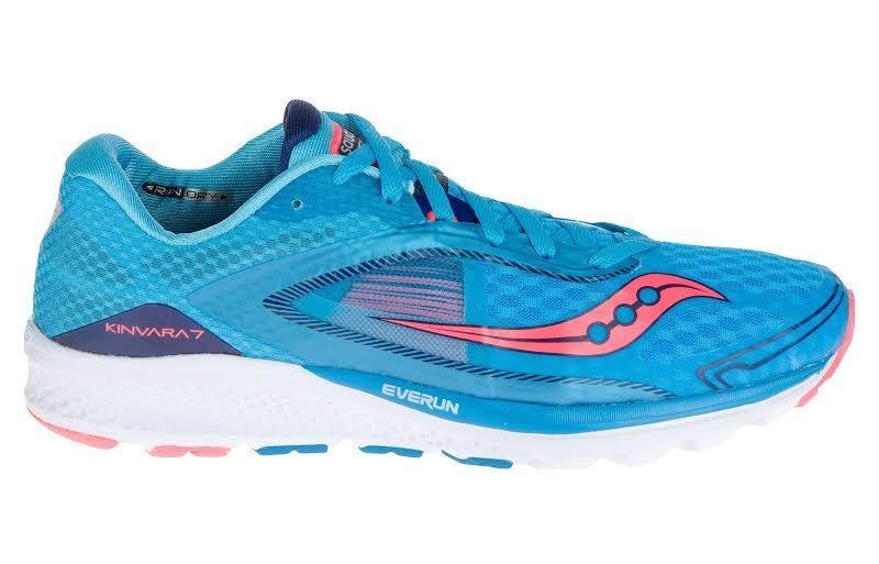 Saucony Kinvara 7 Blue/Navy/Coral Ankle-High Mesh Running Shoe 5M