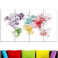 World Map Canvas by Color Splash World U2013 Map Canvas Art Pt2739 Finecraft Art