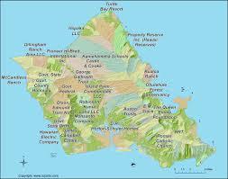 Map Of Waikiki Oahu Landowners Map Oahu Large Land Tracts