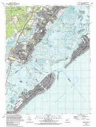 Map Nj Ocean City Topographic Map Nj Usgs Topo Quad 39074c5