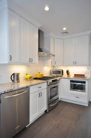 Minimalist Kitchen Cabinets by Minimalist Kitchen Set With White Painted Las Vegas Kitchen