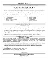 Financial Resume Sample by Finance Resume Samples 21 Free Word Pdf Documents Download
