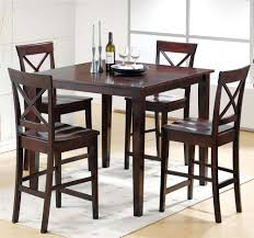 Kitchen Table Bar Style Steve Silver Cobalt 5 Piece Casual Counter Height Table U0026 X Back