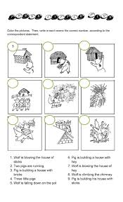 Two Way Tables Worksheet Printable Three Little Pigs Worksheets Activity Shelter