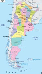 Political Map Of Latin America by Large Political And Administrative Map Of Argentina With Major
