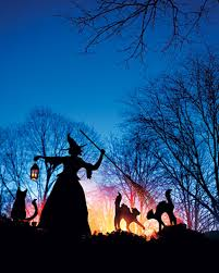 witch and cat lawn ornaments martha stewart living cast a