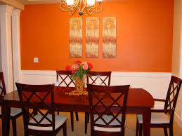 Dining Room Wall Decorating Ideas Winsome Orange Wall Decor Ideas 24 Orange And Brown Bedroom