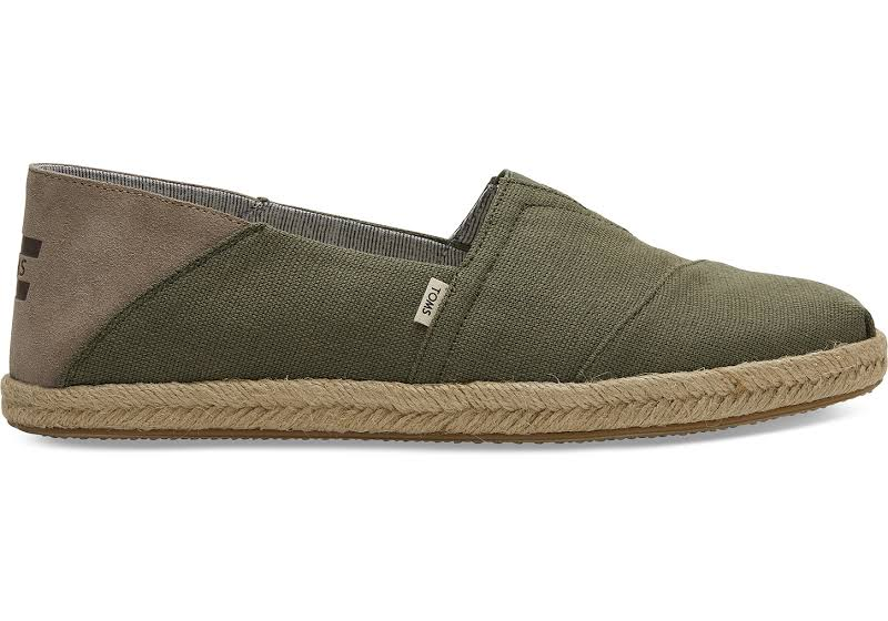 TOMS Alpargata Shoes Green- Mens