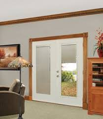 exterior door with blinds between glass shop all of our prefinished steel burnished slate exterior doors