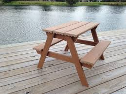 Building Plans For Picnic Table Bench by 50 Free Diy Picnic Table Plans For Kids And Adults