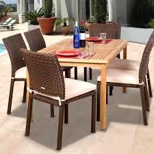Resin Wicker Patio Furniture Sets - amazonia teak luxemburg 6 person resin wicker patio dining set