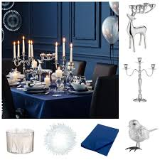 Black Blue And Silver Table Settings Winter Table Decor To Make Your Guests Swoon