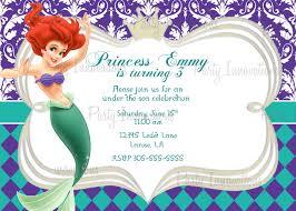 Free Printable Birthday Invitation Cards With Photo Printable Princess Little Mermaid Birthday Party Invitation Plus