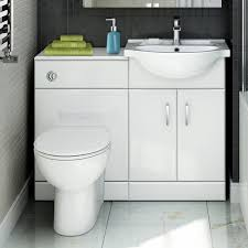 Bathroom Combined Vanity Units by Quartz 1048 Mm White Gloss Vanity Unit Round Toilet Bathroom
