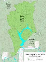 Ohio State Parks Map Athens Area Outdoor Recreation Guide Lake Hope State Park