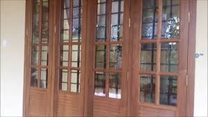 Kerala Style Home Front Door Design by 2 And 3 Panel Wooden Window Design Youtube
