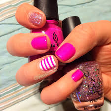 spring nail designs pink and white combo on it u0027s own or with