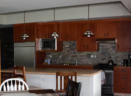 Slate Kitchen Backsplash Charming Brown Wooden Kitchen Cabinet Set Added Slate Backsplash
