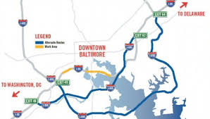 Washington Traffic Map by New Tip For Navigating I 95 Through Baltimore The Washington Post