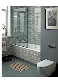 smoke glass subway tile grey bathrooms modern shower and slate