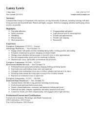 Sample Caregiver Resume No Experience by Resume For Caregiver Haadyaooverbayresort Com