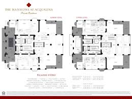 Floor Plans For Mansions Closed Sales Acqualina