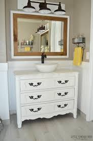 How To Choose A Bathroom Vanity by Old Dresser Turned Bathroom Vanity Tutorial