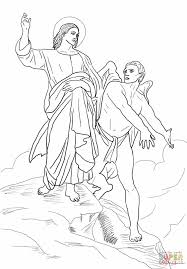jesus tempted coloring page free printable coloring pages