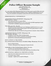 list of adjectives for resume police officer resume sample u0026 writing guide resume genius
