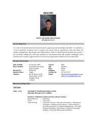 Job Resume Malaysia by Resume Saiful Azlan