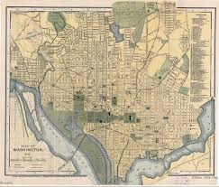 Washington Dc Usa Map by Large Detailed Old Map Of Washington D C With Other Marks 1893