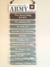 Awards And Decorations Branch by Army Father U0027s Day Gift Customized Duty Station Sign Wooden Hand
