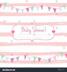 Card Invitation Pink Vector Card Invitation Baby Shower Stock Vector 413825344