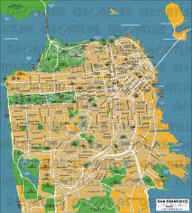 Street Map San Francisco by Geoatlas City Maps San Francisco Map City Illustrator Fully
