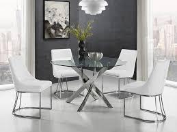 chrome clear glass dining table by casabianca home galaxy sku alternative views