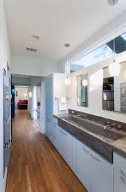 bathroom trough sinks bathroom contemporary with clerestory