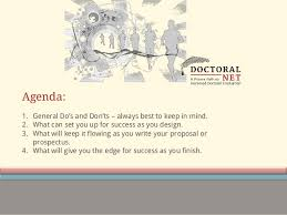 thesis process www doctoralnet com