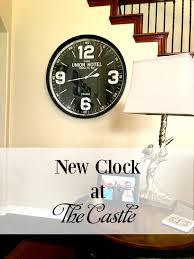 new clock at the castle patina and paint