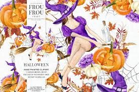 halloween clipart pumpkin halloween clipart pumpkin clip art witch hat seasonal diy pack