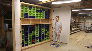 how to make the largest garage peg board and bin cabinet in the