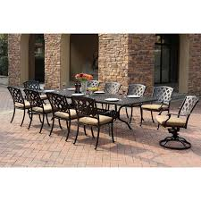 darlee ocean view aluminum 11 piece rectangular extension patio
